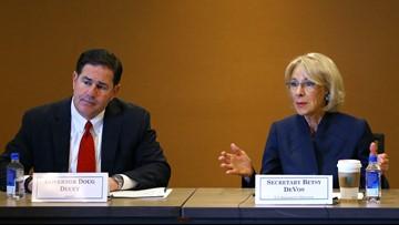 Education Secretary Betsy DeVos pushes school vouchers at Arizona event