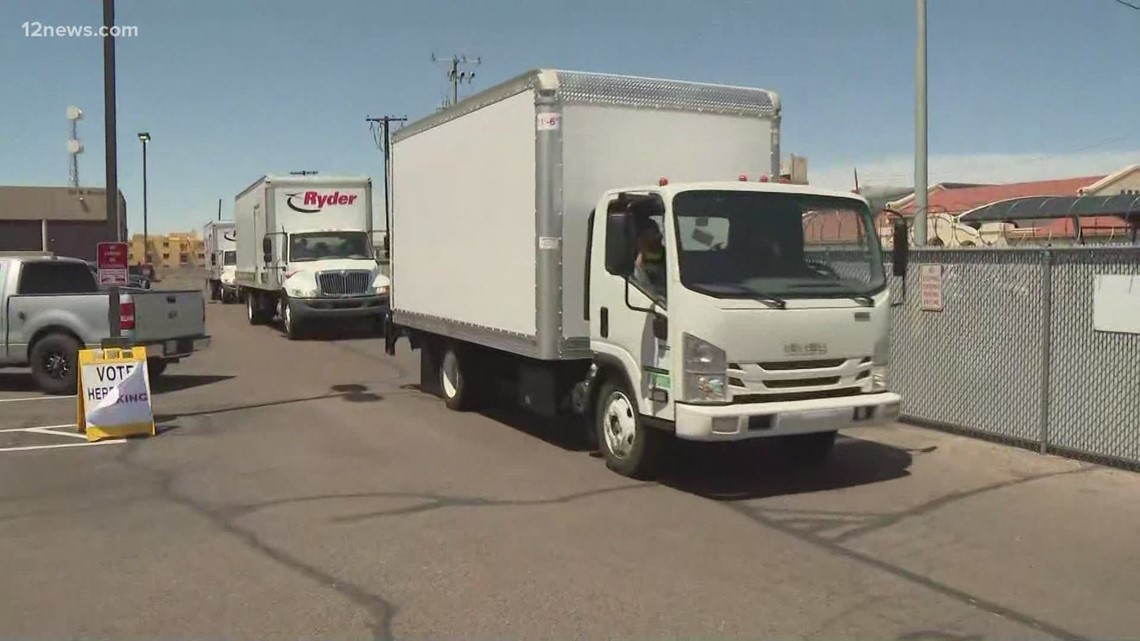 Maricopa County delivering ballots, equipment for audit