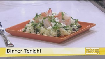 Chef Lisa's InstaPot Spinach Risotto with Shrimp
