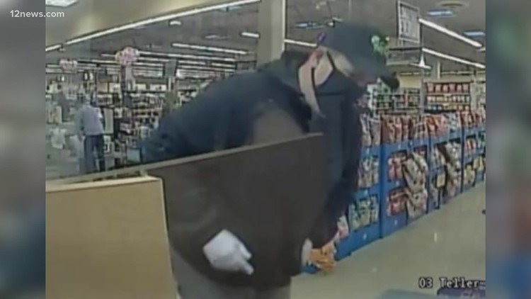 'Back again bandit' caught after allegedly robbing more than 20 banks across Arizona