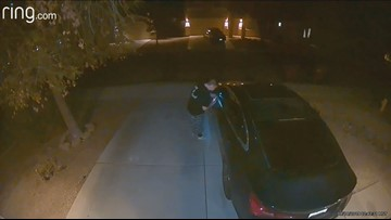 Surveillance video shows man trying to find unlocked cars in San Tan Valley