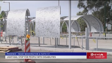 New Phoenix light-rail stop a model for people with disabilities
