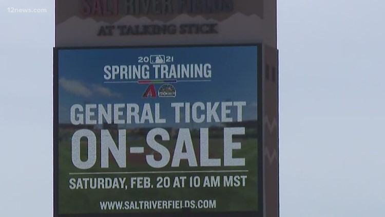 Spring training tickets go on sale at Arizona stadiums with COVID-19 restrictions