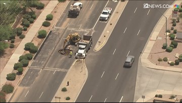 Northbound Scottsdale Rd. reduced to one lane due to water main break