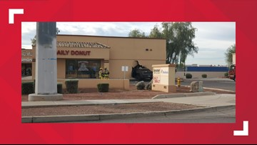 Driver crashes into Avondale donut shop after suffering medical emergency