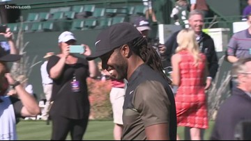 Larry Fitzgerald hits hole-in-one while playing with former President Barack Obama