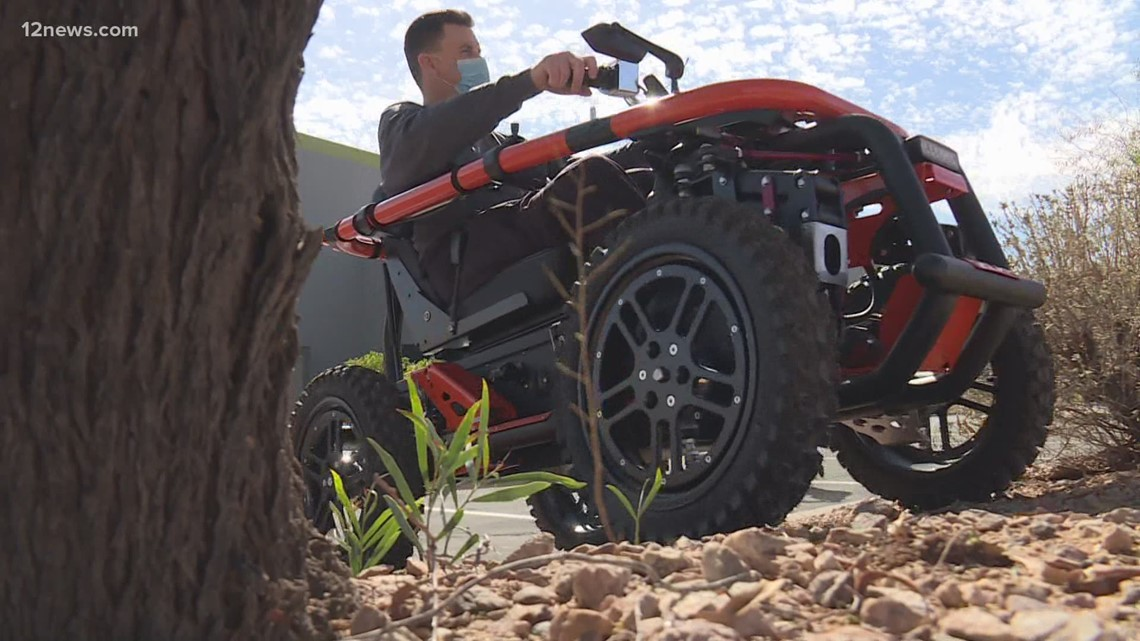 Peoria police officer gets new wheelchair that acts like a four-wheeler