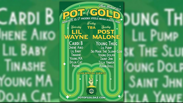 Lil Wayne, Post Malone and Cardi B to headline 'Pot of Gold' music festival in Phoenix