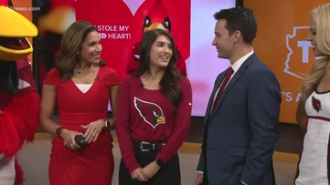 Arizona Cardinals play cupid for Valley teachers this Valentine's Day