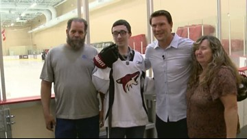 Doan Makes a Difference: Shane meets a special Coyotes fan