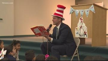 12 News' Paul Gerke dresses like Cat in the Hat for Read Across America
