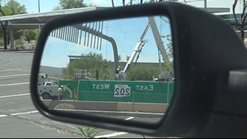Interstate 10 eastbound closure part of construction progress for Loop 202 South Mountain Freeway