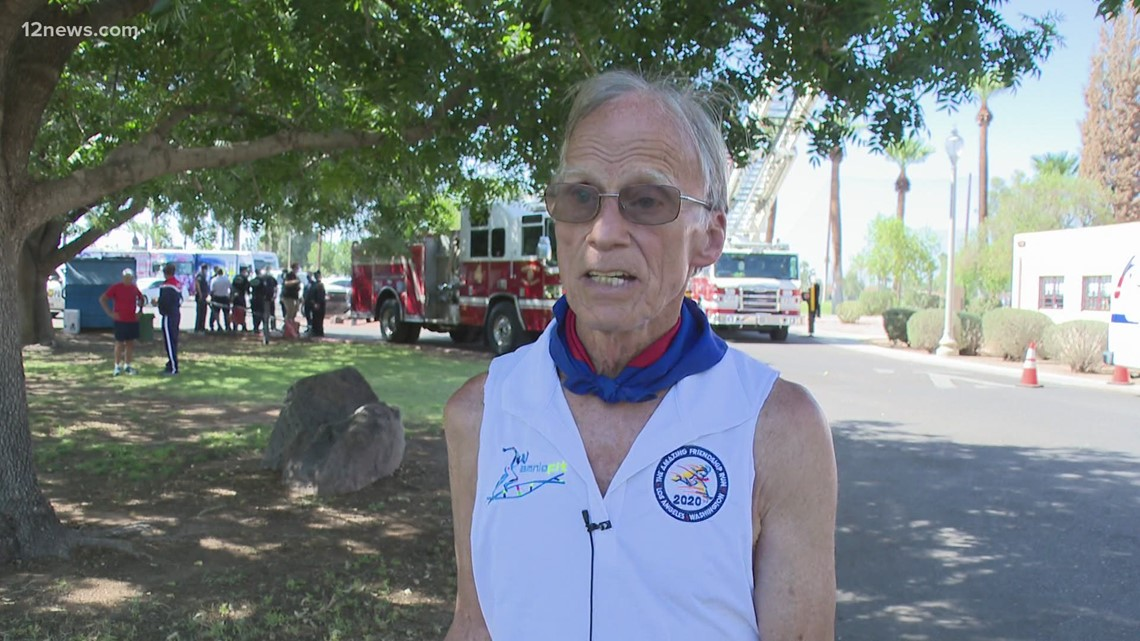 78-year-old Guinness World Records distance runner visits Phoenix