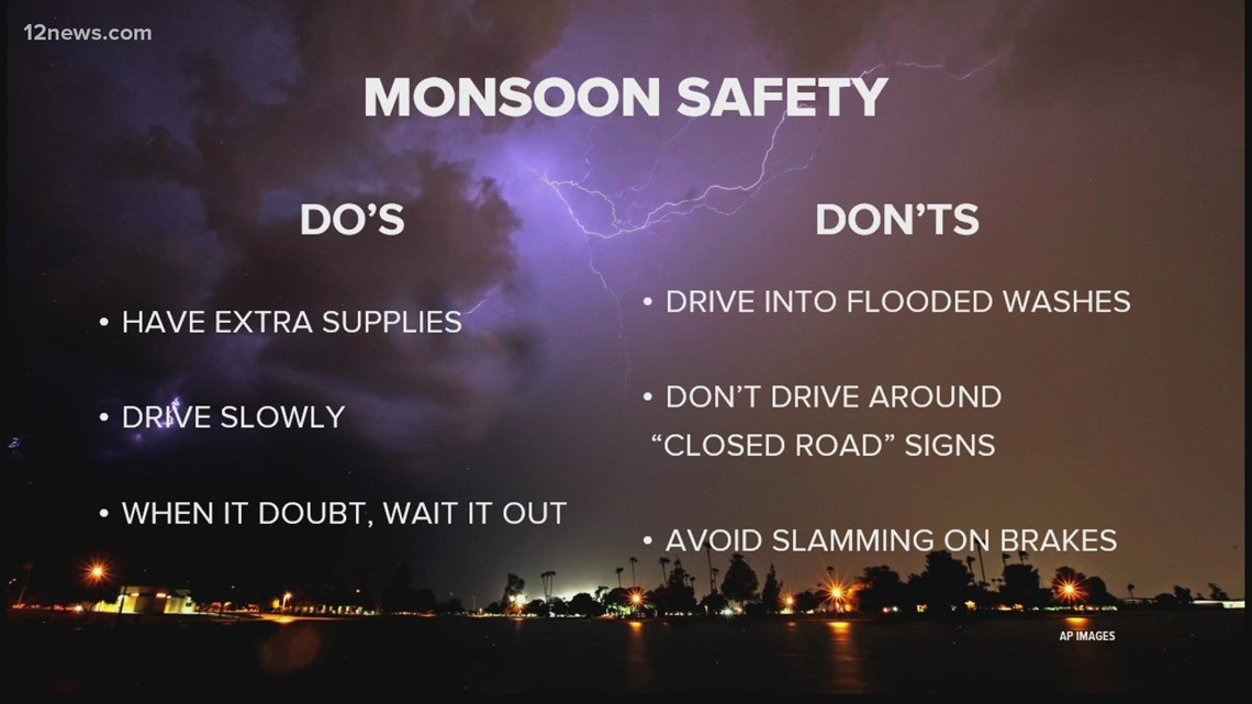 ADOT official offers the dos and don'ts of driving during monsoon storms