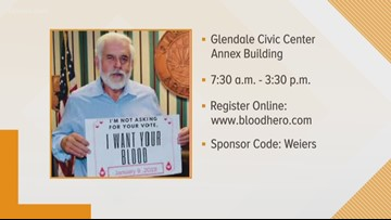 Be a blood hero at the Glendale Blood Drive