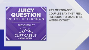 Juicy Question: 42% of couples say they feel pressure to make their wedding THIS