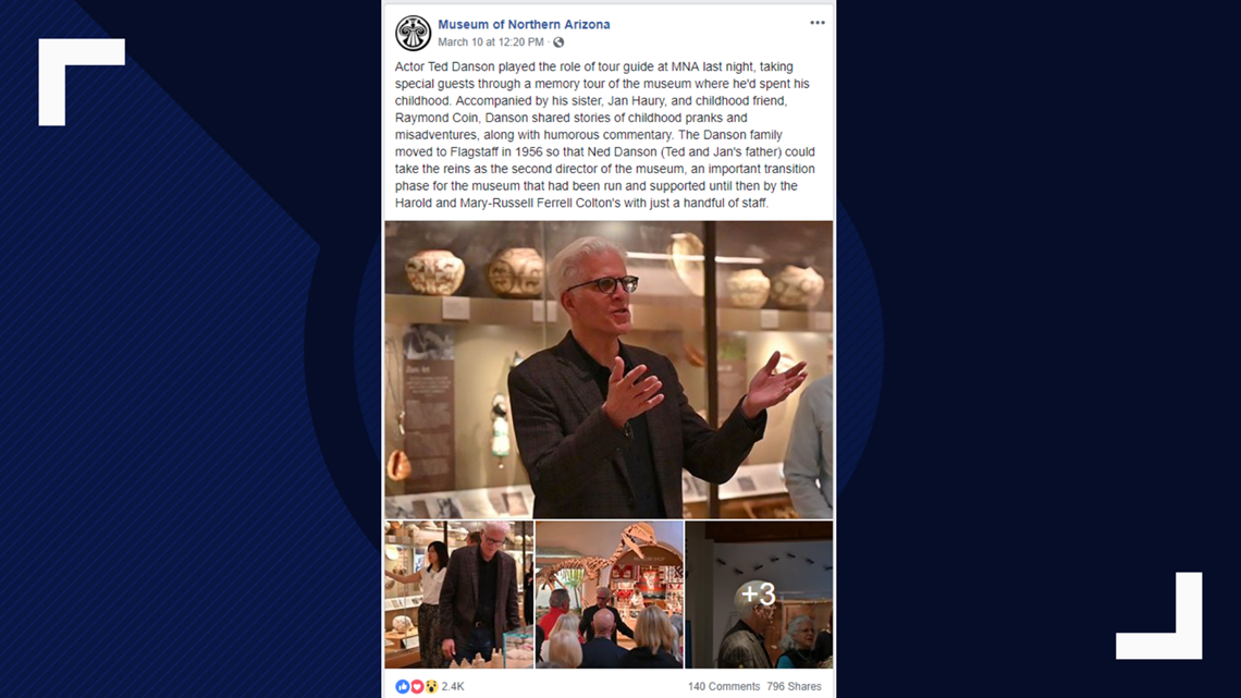 Ted Danson took visitors on a tour at the Museum of Northern Arizona