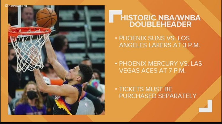 Basketball doubleheader in Phoenix as Suns and Mercury prepare to play