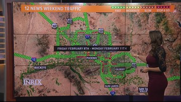 Here's your weekend traffic outlook for Feb. 8 - Feb. 11