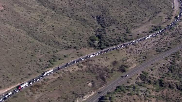 I-10 eastbound closed near Picacho Peak after fatal crash