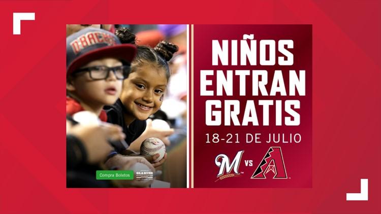 Los niños entran gratis del 18-21 de julio con los D-backs
