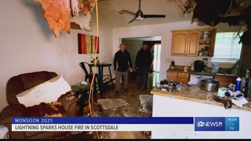 Scottsdale home destroyed after lightning causes fire and damage