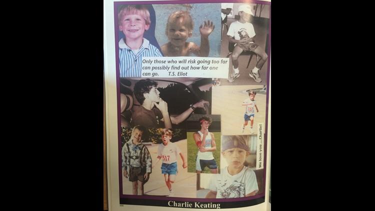 Charlie Keating's senior page in his Arcadia High School yearbook