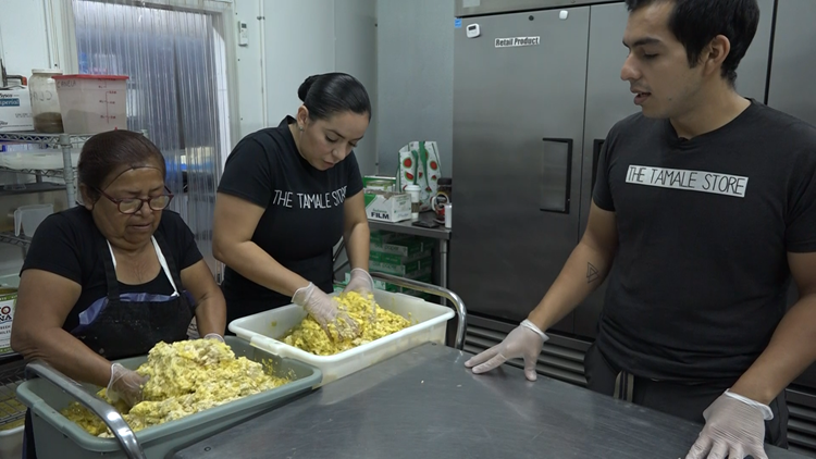 Valley family shares their special ingredients in a popular traditional dish at The Tamale Store