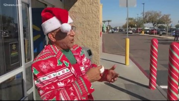 Valley man rings the community into the holidays