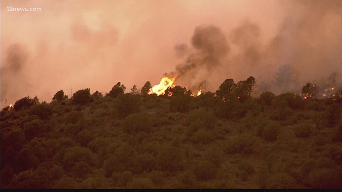 Arizona fire crews fighting against dry heat, high winds and lack of resources