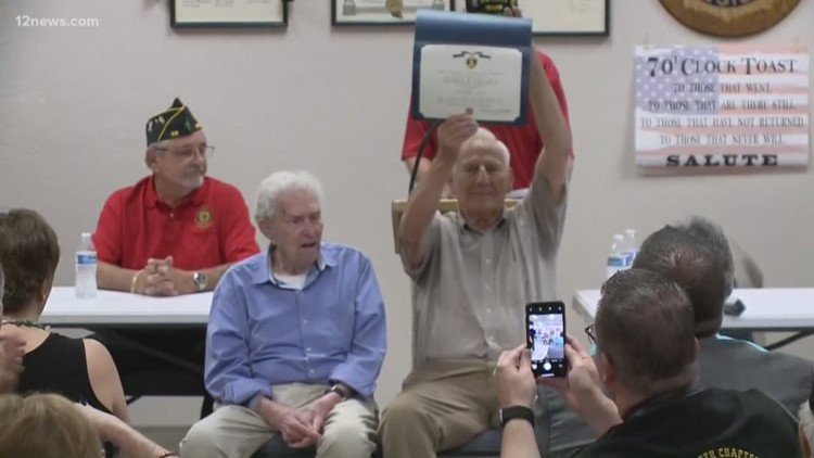Those Who Serve: WWII vet receives Purple Heart after 75 years of waiting