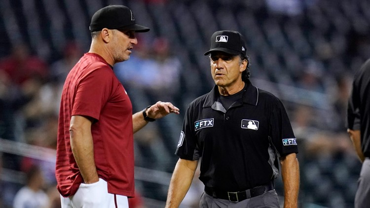 Arizona Diamondbacks pitcher ejected for alleged foreign substance