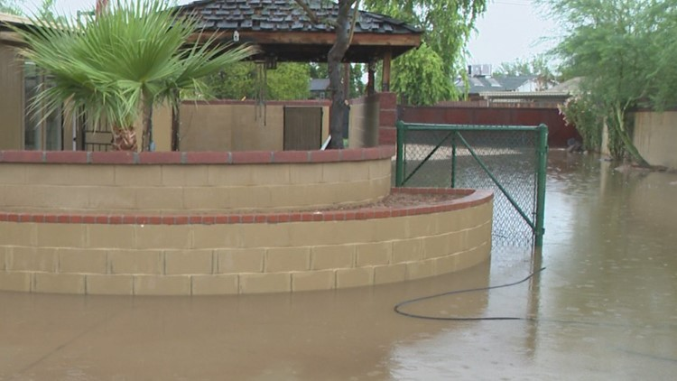 Monsoon storm leaves Scottsdale home flooded