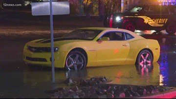 Mother and daughter rescued from flood waters in Sun City