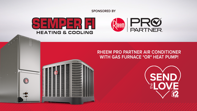 CONTEST ENDED:  Semper Fi Heating & Cooling and Rheem Pro Partner Send The Love Cool Summer