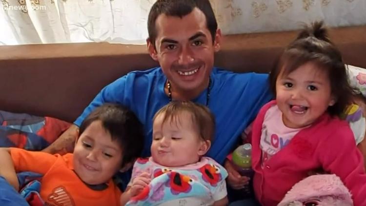 Pedro Rios and three children