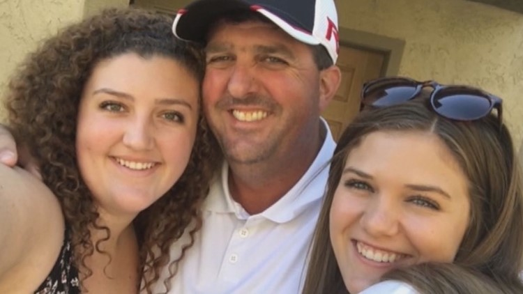 Rob Knight and his daughters