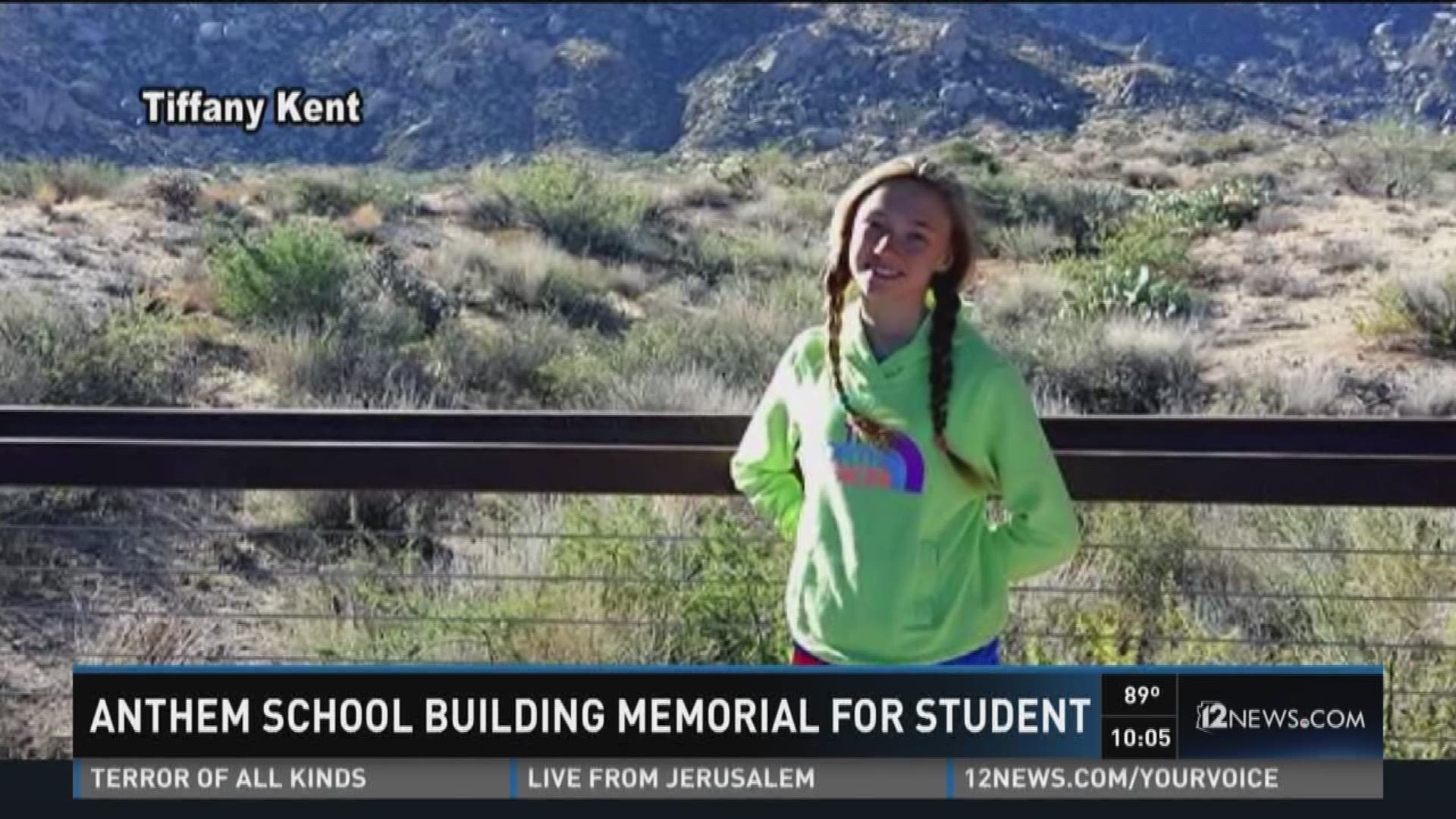 Anthem School Building Memorial For 6th Grader Who Died In Tragic