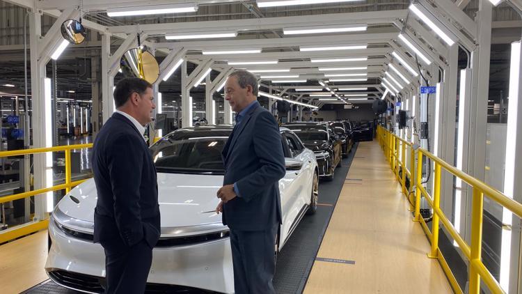 Lucid Motors starts production at new plant in Casa Grande