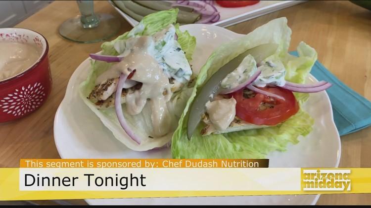 Yum! Low-Carb Chicken Gyro Lettuce Wrap