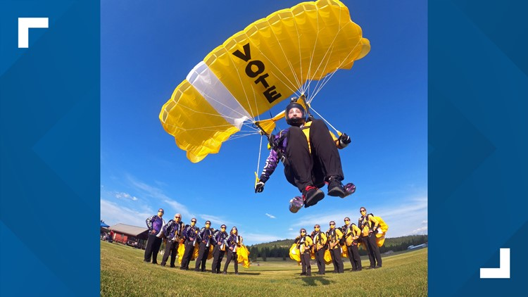 All-female pro skydiving team training in Arizona is making jumps with a purpose