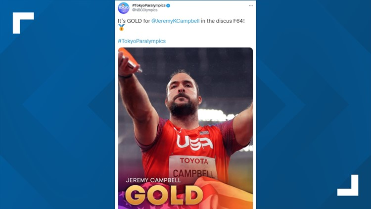 Team USA discus thrower takes home gold at 2020 Tokyo Paralympics