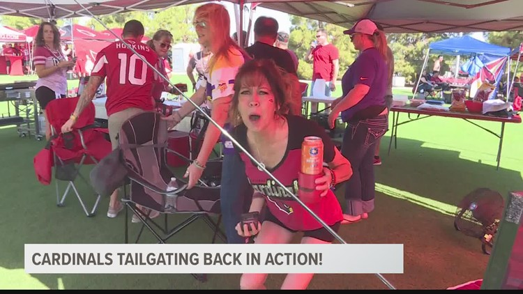 Tailgating fans come out in full force for Arizona Cardinals home opener