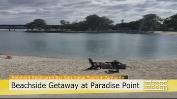 Paradise Point Offers a Private Beach Oasis