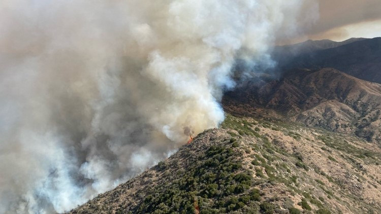 Evacuations ordered after over 4,400 acres burned in Tussock Wildfire near Crown King