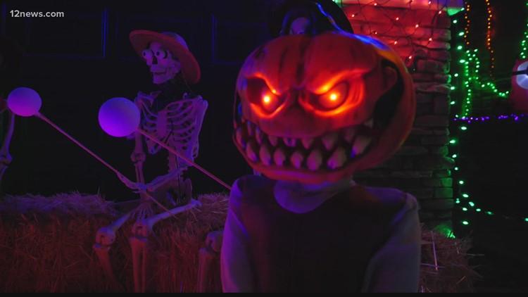 Spooky Halloween display lights up one Ahwatukee neighborhood