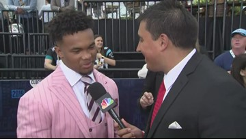 NFL draft prospects arrive on the red carpet