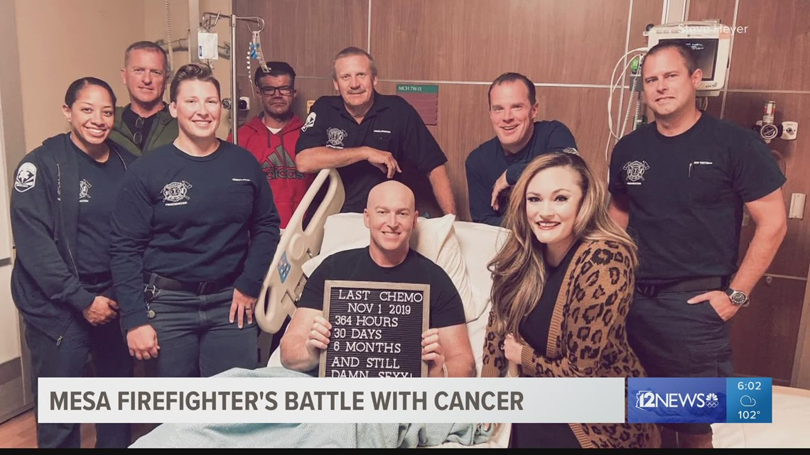 Fellow firefighters rally behind Mesa captain in 2.5 year battle with occupational cancer