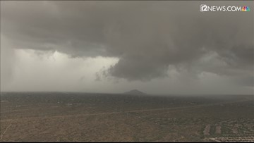 Dark sky over north Phoenix as tornado warning is issued for area