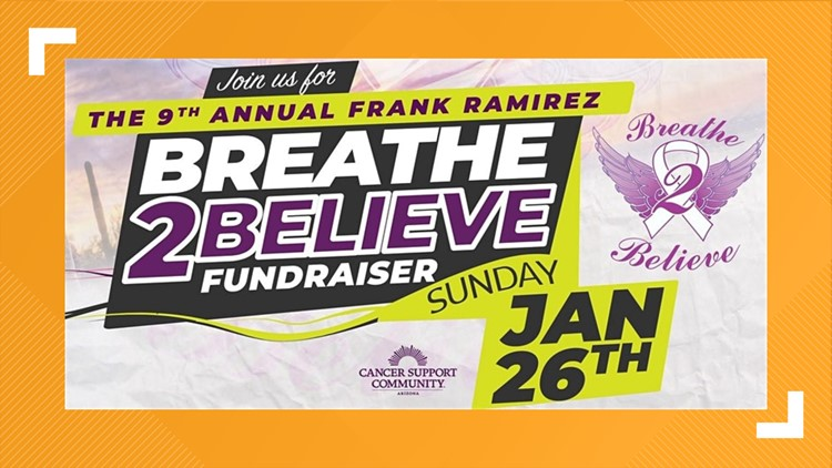 Support cancer organizations at 'Breathe 2 Believe' fundraiser